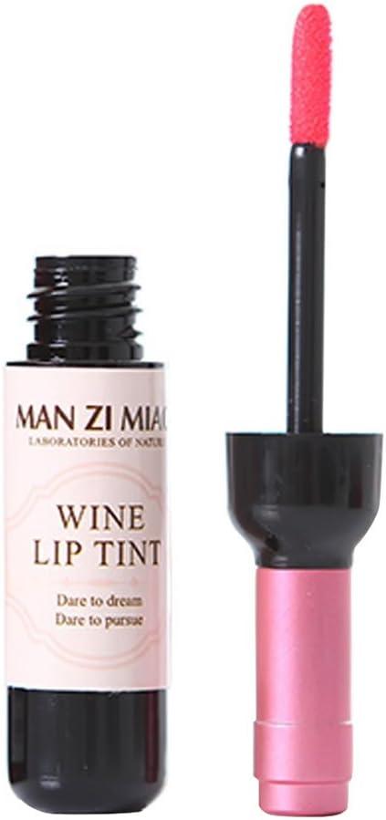 ROMANTIC BEAR Botella De Vino Tenido De Brillo De Labios Lapiz Labial Matte Impermeable Tinte Liquido De Larga Duracion
