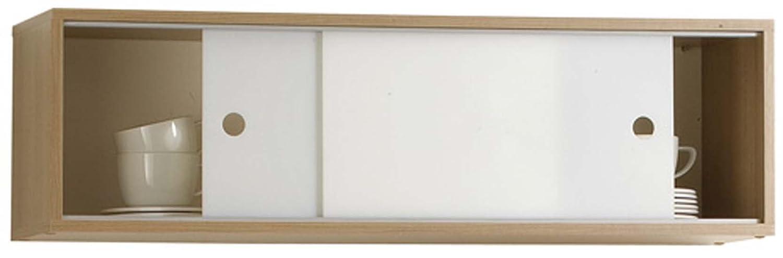 FMD 220-001_noce - Wandregal CASE - B x H x T: 94.5 x 28.0 x 24.5 cm ...