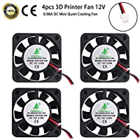 4pcs DC Brushless Cooling Fan Heatsink Cooler Radiator Connector Separating One-to-Two Interface 3.3V 5V for Raspberry Pi 2/Pi 3/3B+ and Pi Zero/Zero W or Other Project by MakerFocus