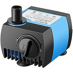 VicTsing 80 GPH (300L/H) Submersible Water Pump For Pond, Aquarium, Fish Tank Ultra Quiet Fountain Water Pump Hydroponics