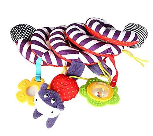 Tery Baby Toddler Toys Giocattoli per bambini Cute kid Spiral Activity - Passeggino Car Seat Cot Babyplay Viaggi Giocattoli con Teether (Multicolor)