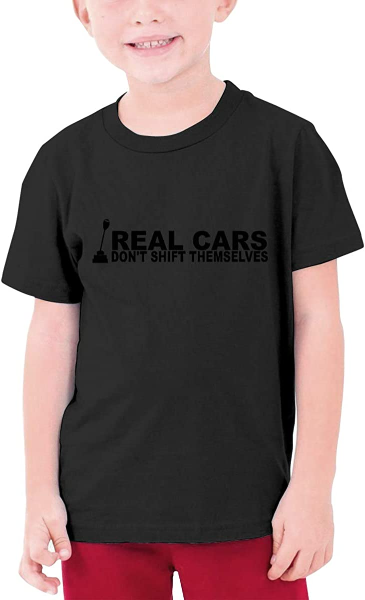 Real Cars Dont Shift Themselves Boys Short Sleeve T-Shirt