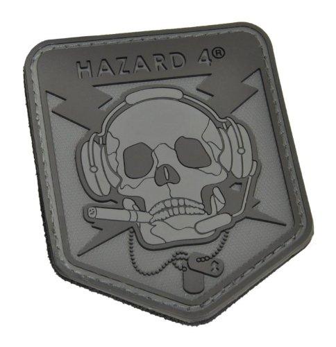Hazard 4 Custom Special Operations Skull Rubber 3D Patch, Bl