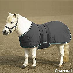 Kensington All Around Ultra Light Weight Mini Turnout Blanket, Charcol /Emerald, Small
