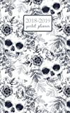 2018-2019 Pocket Planner: 2 Year Pocket Monthly Calenda Planner 4 x 6.5 inch the skull and exotic tropical flowers on a white background, 8 x 10 inch Sugar Skull Sweet dead Fantasy (Volume 31)