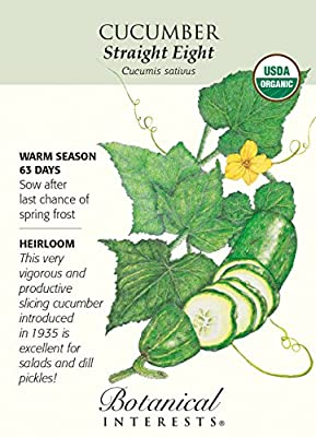 Straight Eight Slicing Cucumber-1.5 g-Certified Organic