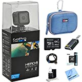 GoPro HERO4 Action Camera Ready for Adventure Bundle Includes GoPro Hero 4, 64GB Micro SDXC Memory Card, Case, Card Reader, Memory Card Wallet, HDMI, Lens Cleaning Kit and Beach Camera Cloth
