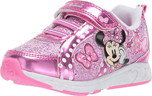 Josmo Kids Baby Girl's Minnie Metallic Sneaker (Toddler/Little Kid) Pink 7 M US Toddler]()