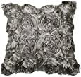VivReal Grey Satin Rose Flower Square Pillow Cushion Pillowcase Case Cover 42x42cm