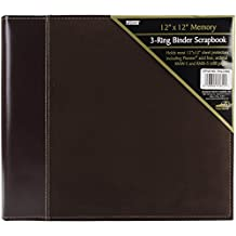 Pioneer Photo Albums 12 x 12-Inch 3-Ring Faux Suede Cover Scrapbook Binder, Brown
