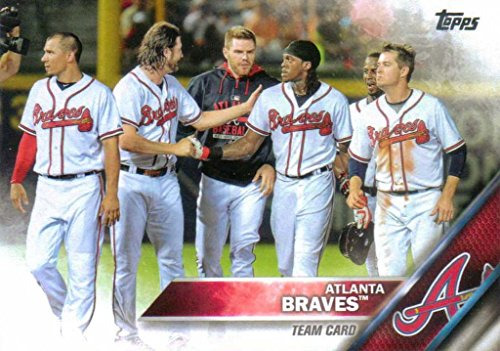 (Atlanta Braves 2016 Topps MLB Baseball Team Set Complete Series One and Two Regular Issue 22 Cards with Nick Markakis, Freddie Freeman plus)