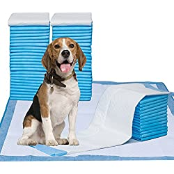 """Puppy Pads, 34"""" x 28"""" XXL-Large, Ultra Absorbent - All Day Premium Dog Pads - 42 Count by Petphabet"""
