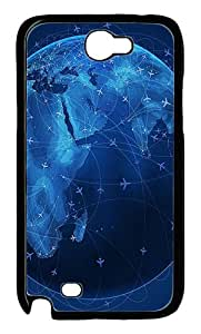 Universe Planet 50 Polycarbonate Hard Case Cover for Samsung Galaxy Note II N7100¨CBlack