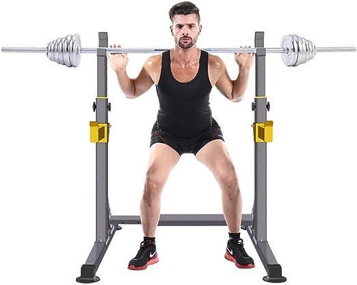Rstellbarer Kniebeugen St/änder Weight Bench Support Hantelbank Langhantel Hantel Ablage Olympic Ablage F/ür Langhantelstangen Squat Stands Rack,Max Belastung 260 Kg