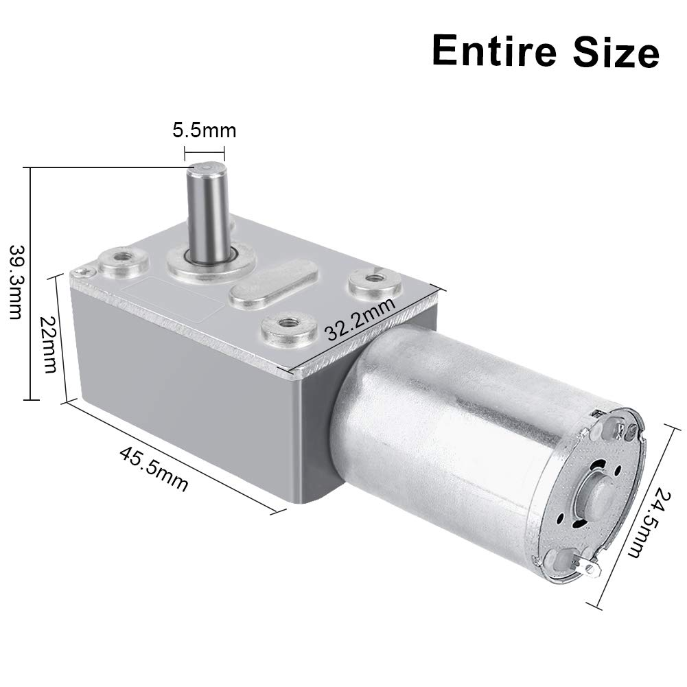 DC 12V Riduttore Reversibile Motore Elettrico Turbina ad Alta Coppia Riduttore a Vite Senza Fine 5RPM
