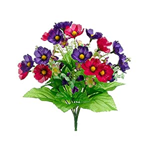 "13"" Anemone/Pansy Bush x7 Mixed (pack of 24) 12"