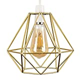 Retro Style Gold Metal Basket Cage Ceiling Pendant Light Shade