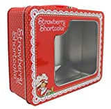 Strawberry Shortcake Tin Storage Box w/Clear See-Through Window