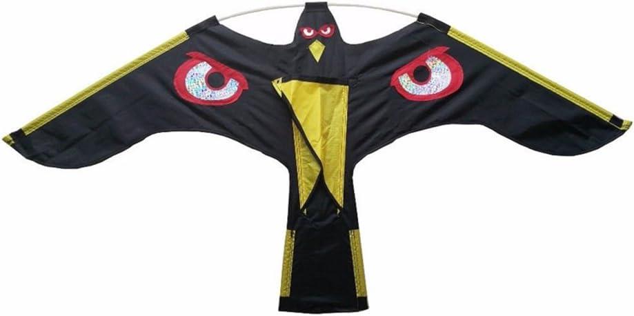 lzndeal Pájaro espantapájaros Ahuyentador Flying Hawk Kite Kit para jardín de la casa de la Yarda