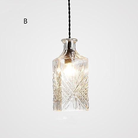 SEESUNG Nórdico Cristal Tallado Lámparas De Vidrio De La Botella, Lámparas Simples Modernas Del Restaurante