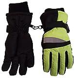 N'Ice Caps Boys Thinsulate and Waterproof Neon Reflector Ski Glove