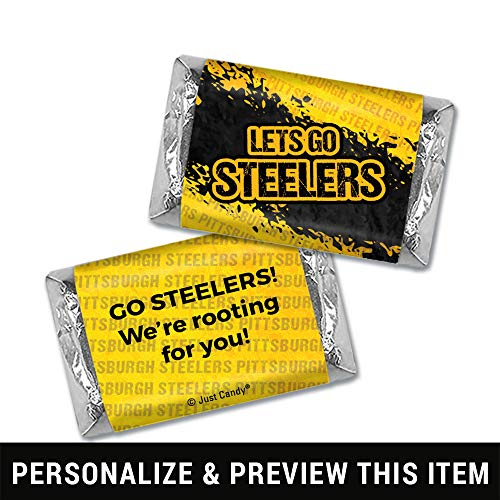 Steelers Themed Football Party Favors Wrappers for Hershey's Miniatures Candy (100 Count)