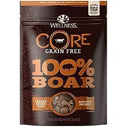 Wellness Natural Pet Food Core Grain Free 100-Percent Boar Freeze Dried Dog Treats, 2 Oz