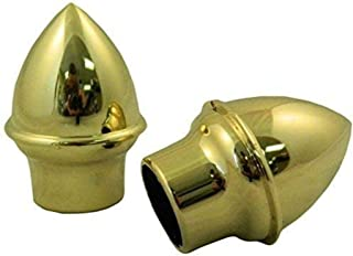"product image for Gettysburg Flag Works Gold Colored Plastic Acorn Finials (Pair) 1"" Dia"