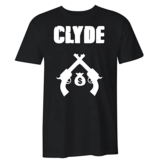 ebe426d694 Amazon.com: Fantastic Tees Bonnie and Clyde Matching Couple T Shirts:  Clothing
