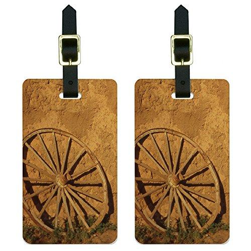 western-wagon-wheel-fort-union-southwest-new-mexico-luggage-tags-id-set-of-2