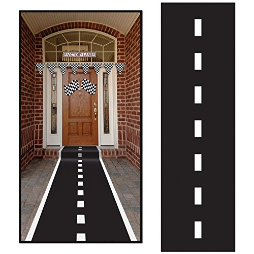 Racetrack Runner (poly w/double-stick tape) Party Accessory  (1 count) (1/Pkg) (Nascar Decorations)