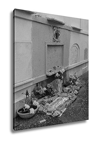 Ashley Canvas St Louis Catholic Cemetery New Orleans Louisiana USA, Kitchen Bedroom Living Room Art, Black/White 30x24, AG6544549 by Ashley Canvas
