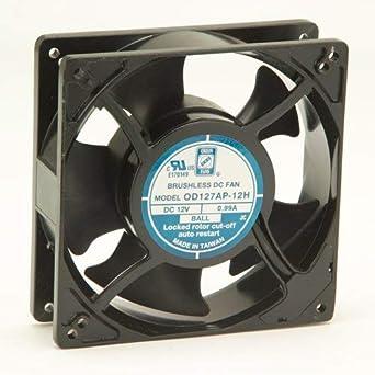 Knight Electric - Ventilador de dirección Od127AP-24HB para ventiladores de gestión térmica OD127 Series 3000 RPM, 127 x 127 x 38,5 mm, 140 CFM, 24 V, marco de ...