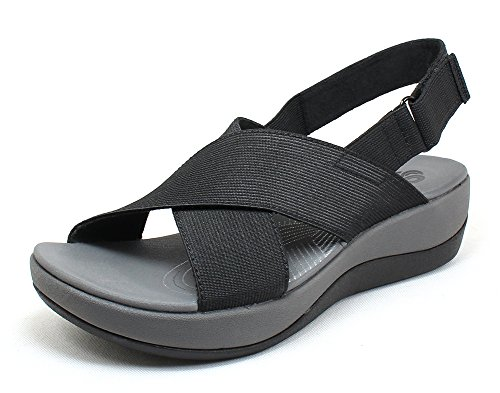 clarks-of-england-womens-arla-kaydin-black-fabric-and-synthetic-sandals-10-bm-us