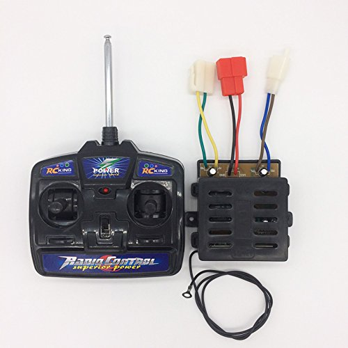 RC King Kids Power Wheels 27mhz Universal Remote Control and 6V Receiver Kit Remote Controller Transmitter Control Box Accessories for Children Electric Ride On Toys RC Car Replacement Parts