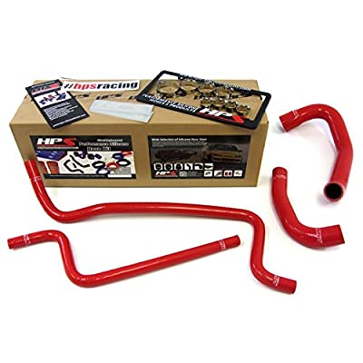HPS 57-1292-RED Red Silicone Radiator Coolant/Heater Hose Kit: Automotive