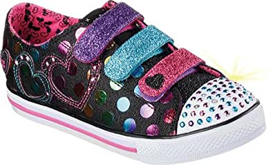 Skechers - Zapatillas de Tela para niña Negro Negro: Skechers: Amazon.es: Zapatos y complementos