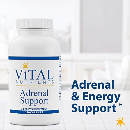 Vital Nutrients - Adrenal Support - Suitable for Men and Women - Supports Adrenal Gland Function, Supports Mild Stress and Anxiety, and Promotes a Healthy Immune System - 120 Capsules per Bottle 3