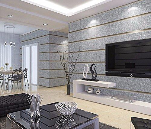 WanJiaMen\'Shop Einfache Moderne Wohnzimmer Schlafzimmer Tapete 3D Stereo  Stripe Hintergrund Tapete, A
