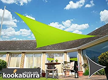 Kookaburra Waterproof Sun Sail Shade Canopy 3.6m Triangle in Lime & Kookaburra Waterproof Sun Sail Shade Canopy 3.6m Triangle in Lime ...