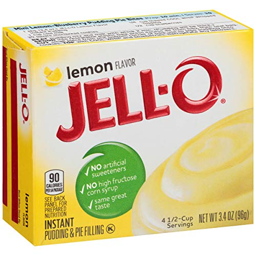 Jell-O Instant Pudding Mix, Lemon, 3.4 oz