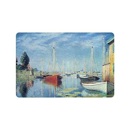Claude Monet's Painting Doormat Entrance Mat Floor Mat Rug Indoor/Outdoor/Front Door/Bathroom Mats Rubber Non Slip Size 23.6 x 15.7 - Claude Tree Lake Monet