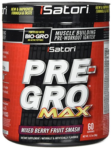 iSatori Pre-gro Max Supplement, Mixed Berry Fruit Smash, 12.7 Ounce For Sale