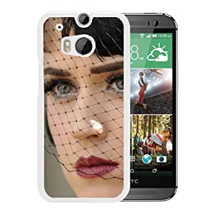 Beautiful Designed Cover Case With Katy Perry Veil Makeup Haircut Look (2) For HTC ONE M8 Phone Case