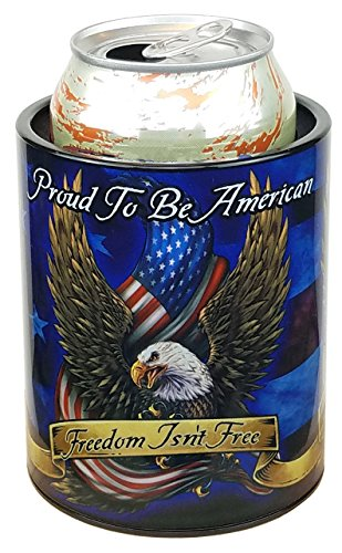 Keepzit Kooler Can Cooler Triple Eagles 12-16 Ounce Cans Bottles Hard Plastic ()