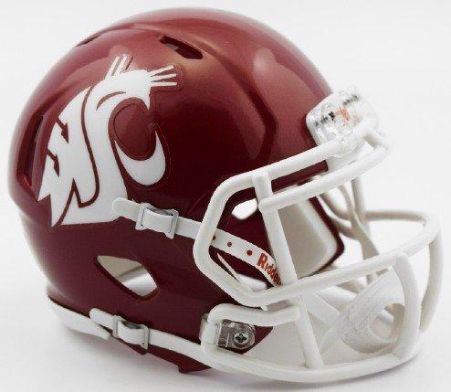 (Riddell NCAA Washington State Cougars Helmet Mini SpeedHelmet Replica Mini Speed Style Crimson, Team Colors, One Size)