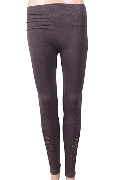 1404f94f85067d Image Unavailable. Image not available for. Color: One 5 One Women's Geo  Mesh Ankle Legging Chocolate Small