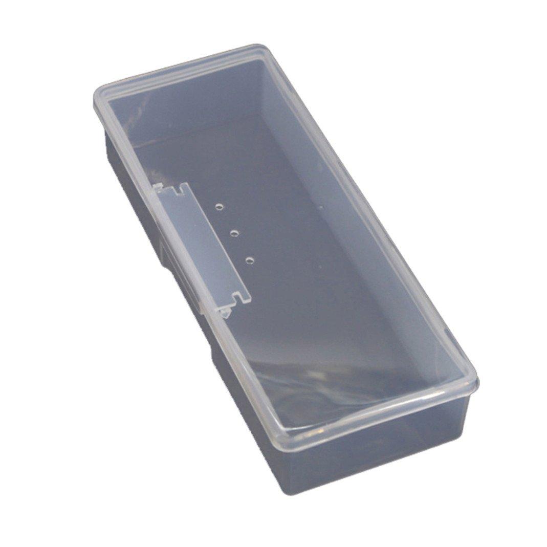 プラスチック透明ジュエリーストレージボックスラインストーンオーガナイザーコンテナケース爪アートSuppliesホルダー M ホワイト 17FE15163OJD6 B07BMVB65Z
