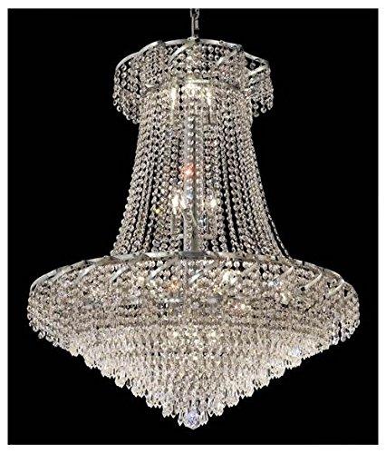 Belenus 18 Light (Elegant Lighting ECA4D30C/SA Belenus Collection 18-Light Hanging Fixture with Swarovski Spectra Crystals, Chrome Finish)