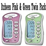 Itzbeen Pink & Green Twin Pack Baby Care Timer